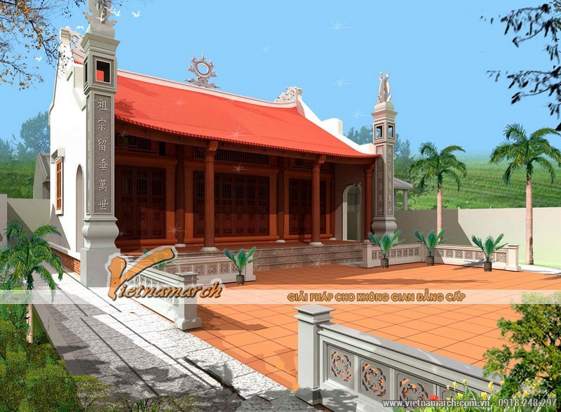 Nhà thờ họ mặt bằng chữ Nhị tại Ứng Hòa - Hà Nội 04