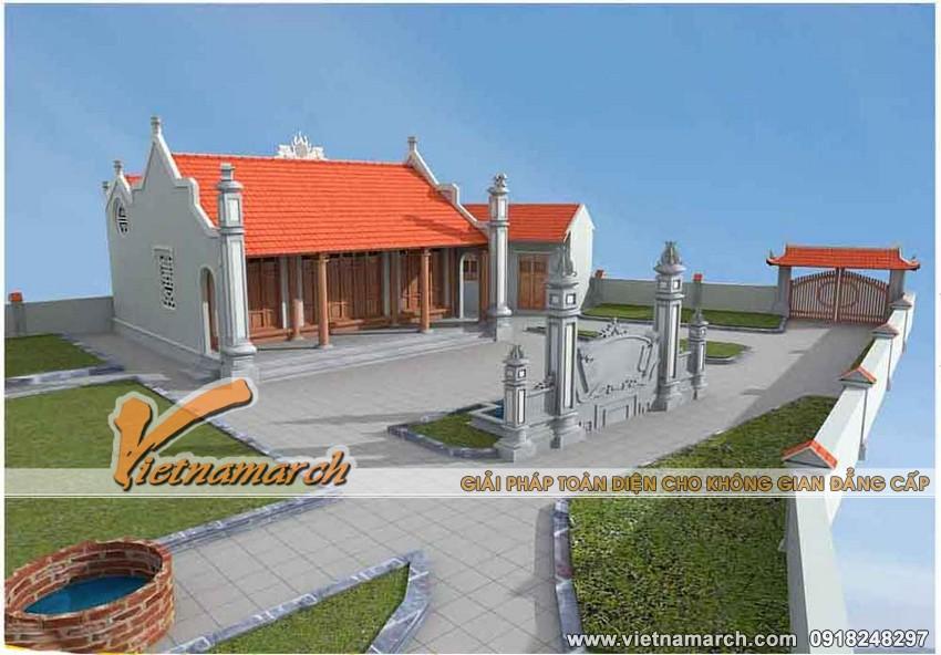3. Thiết kế nhà thờ mặt bằng chữ nhị nhà bác Chiến ở Ý Yên - Nam Định 01