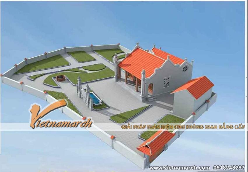 3. Thiết kế nhà thờ mặt bằng chữ nhị nhà bác Chiến ở Ý Yên - Nam Định 02