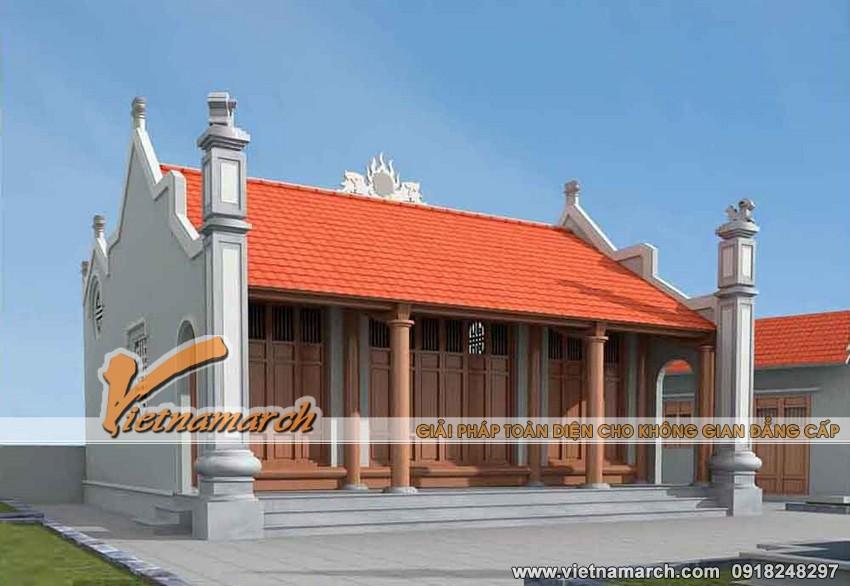 3. Thiết kế nhà thờ mặt bằng chữ nhị nhà bác Chiến ở Ý Yên - Nam Định 03