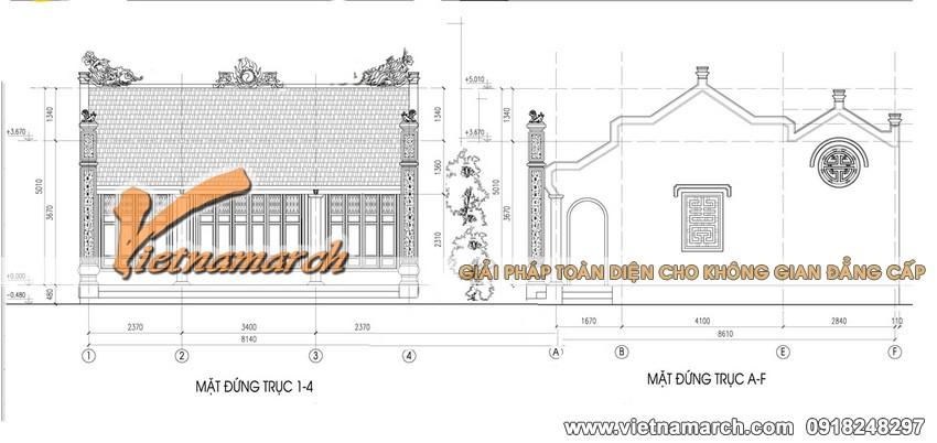 3. Thiết kế nhà thờ mặt bằng chữ nhị nhà bác Chiến ở Ý Yên - Nam Định 04