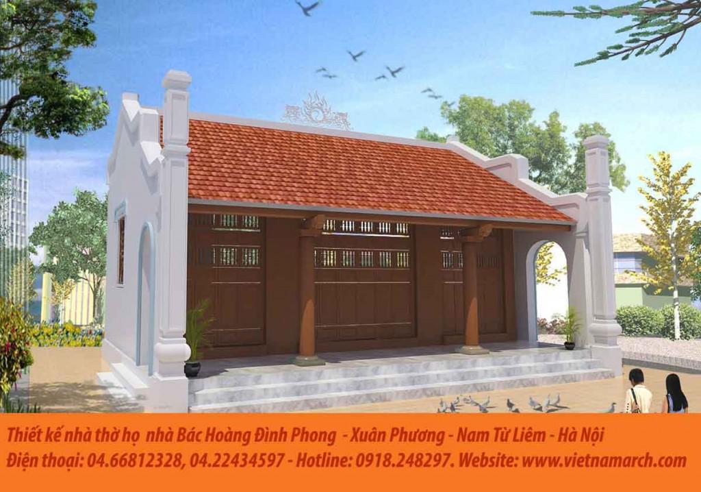 Thiết kế nhà thờ tổ dòng họ Hoàng tại Xuân Phương - Nam Từ Liêm - Hà Nội 02
