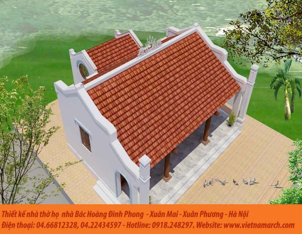 Thiết kế nhà thờ họ Hoàng tại Xuân Phương - Nam Từ Liêm - Hà Nội 01
