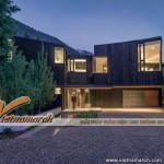 Thiết kế kiến trúc độc đáo: ngôi nhà gỗ cháy mái đồng