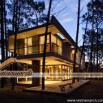 Thiết kế kiến trúc: nhà bê tông và kính giữa rừng