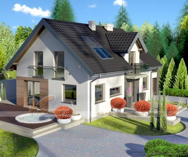 Thiết kế nhà cấp 4 mái thái hiện đại cho nha anh Hải – Vĩnh Phúc