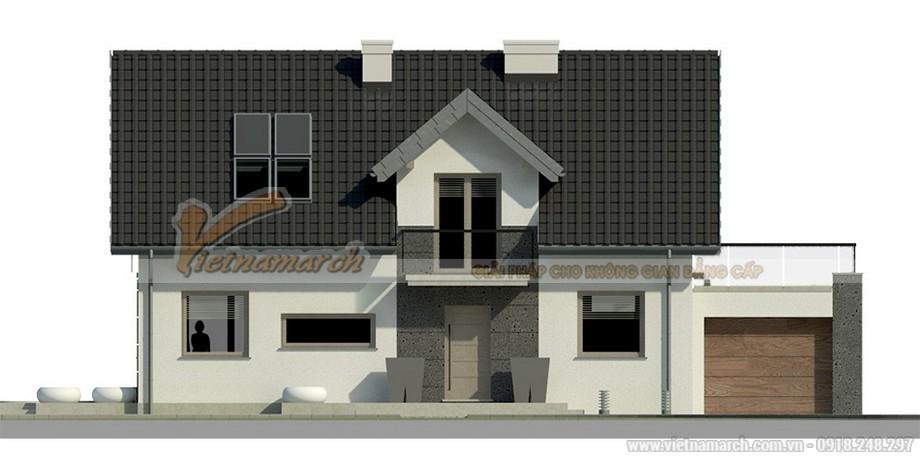Thiết kế nhà cấp 4 mái thái hiện đại cho nha anh Hải - Vĩnh Phúc