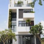 Thiết kế nhà phố đẹp 4 tầng thênh thang gió vào