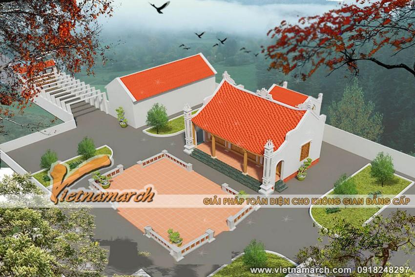 Thiết kế nhà thờ họ cho dòng họ Cao thuộc huyện Lục Ngạn - Bắc Giang.01