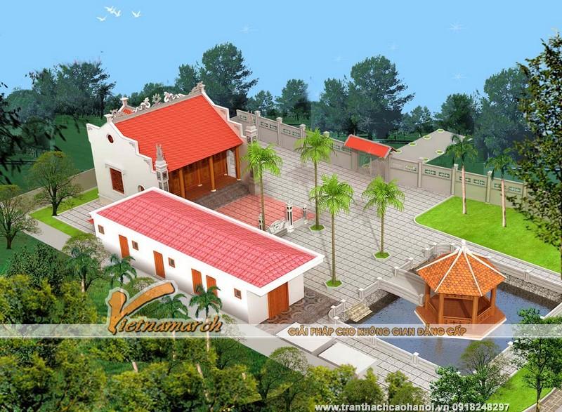 Thiết kế nhà thờ mặt bằng chữ Đinh của dòng họ Phạm tại Yên Mỹ - Hưng Yên 01