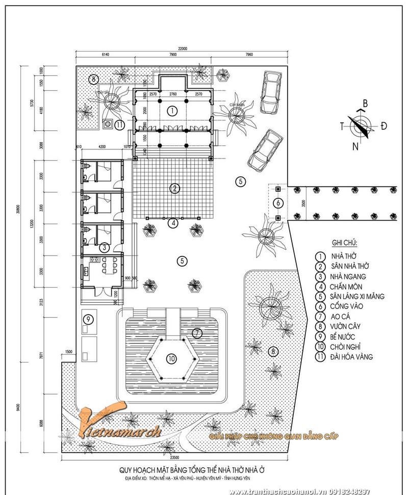 Thiết kế nhà thờ họ mặt bằng chữ Đinh của dòng họ Phạm tại Yên Mỹ - Hưng Yên 05