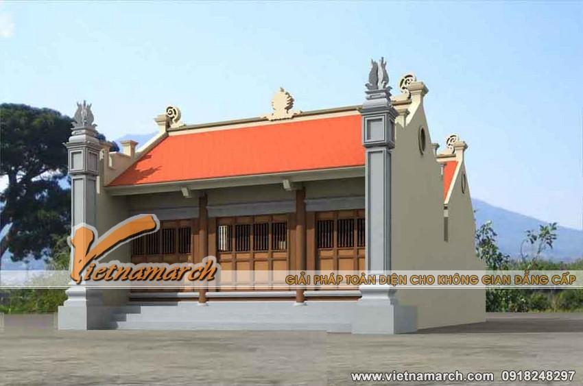 Thiết kế nhà thờ mặt bằng chữ nhị cho nhà Bác Hoàng ở Đại Từ - Thái Nguyên 03