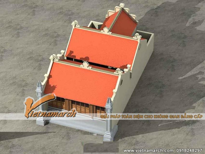 4 Mẫu thiết kế nhà thờ họ - nhà thờ mặt bằng chữ nhị với chi phí thấp