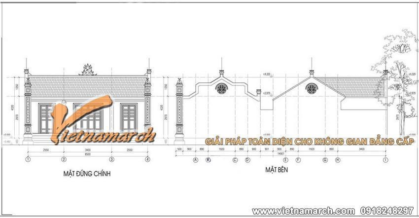 Thiết kế nhà thờ mặt bằng chữ nhị cho nhà Bác Hoàng ở Đại Từ - Thái Nguyên05