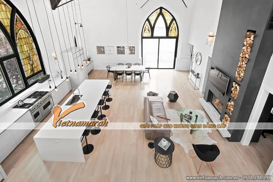 Toàn cảnh thiết kế nội thất của ngôi biệt thự ở tầng 1