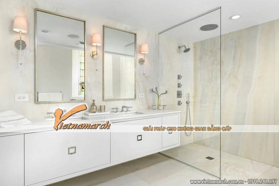 Thiết kế nội thất hiện đại trong phòng tắm