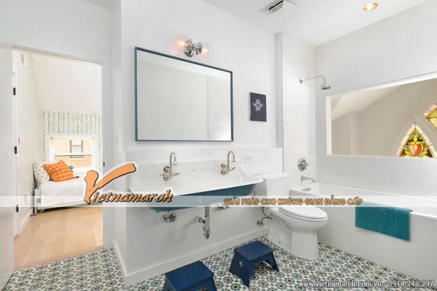 Thiết kế nội thất phòng tắm hiện đại - trong ngôi biệt thự nhà anh Nam