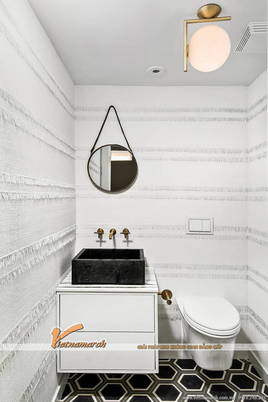 Nhà vệ sinh khác biệt với giấy dán tường đặc biệt