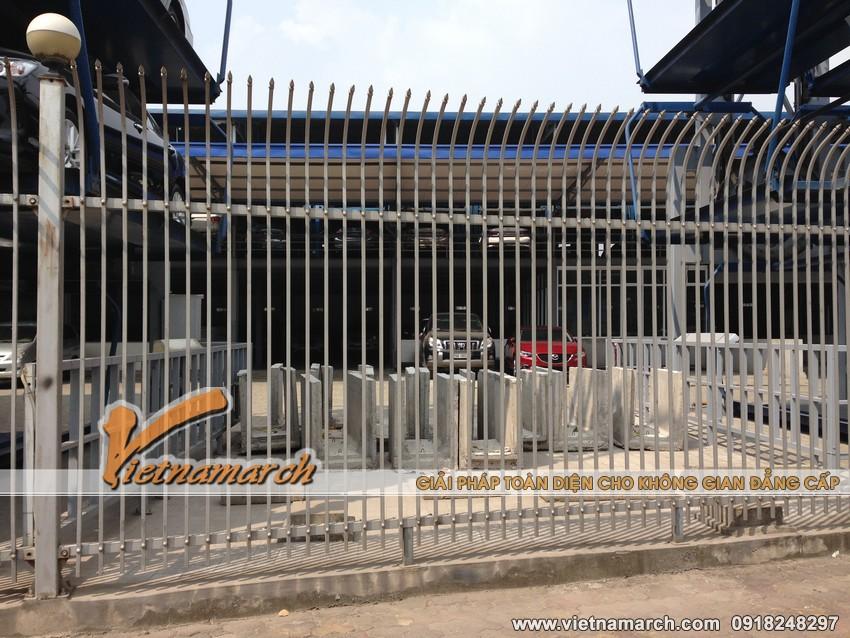 Giàn thép đỗ xe cao tầng tại Lê Văn Lương