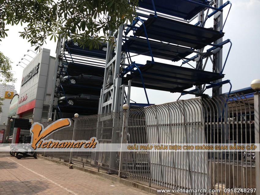 Giàn thép đỗ xe cao tầng 68 Lê Văn Lương