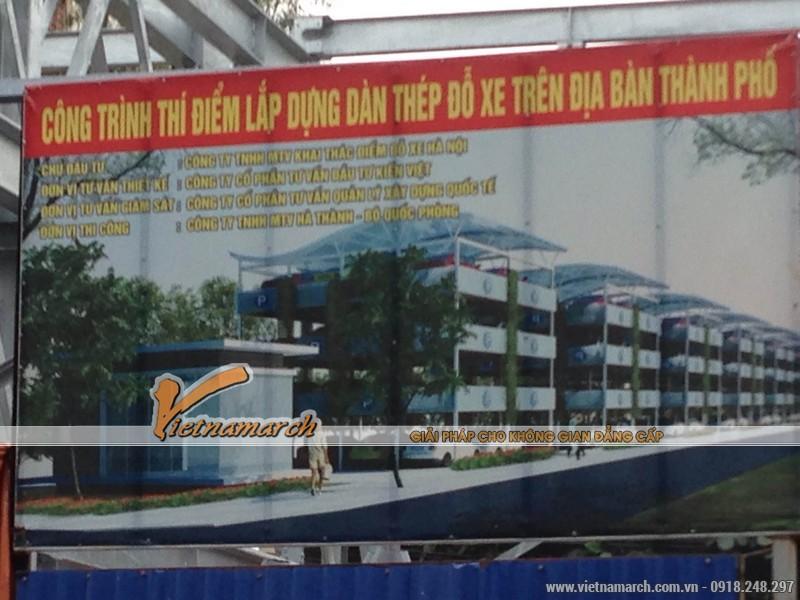 Công trình thí điểm lắp dựng giàn thép đỗ xe cao tầng trên địa bàn thành phố