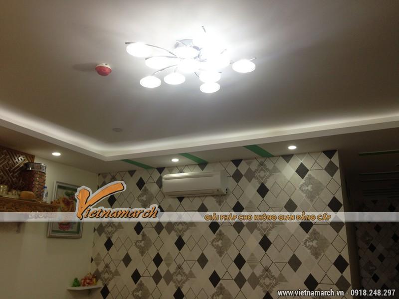 Hoàn thiện nội thất phòng khách cho nhà chị Hoa CC Đông Đô