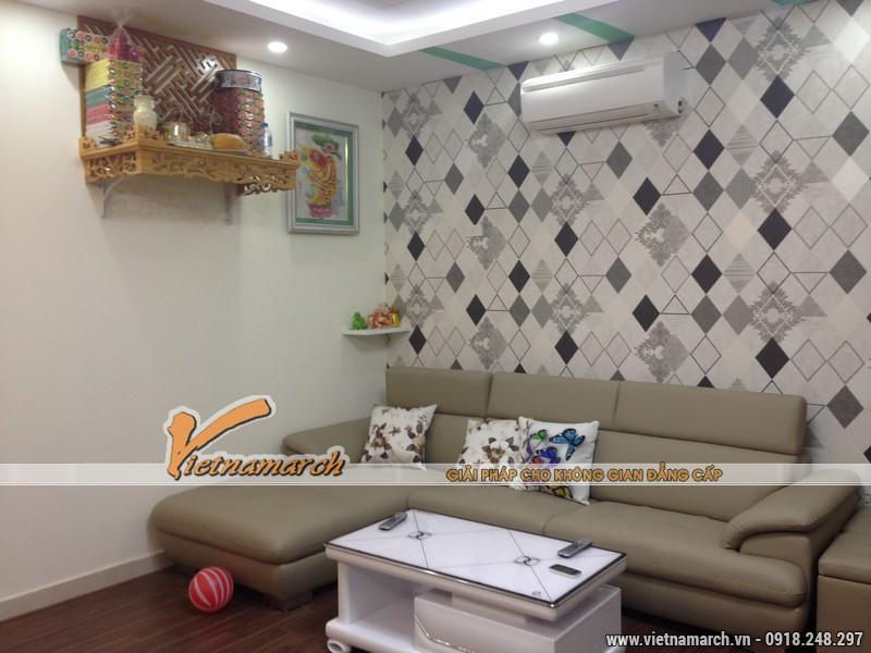 Hoàn thiện nội thất phòng khách cho nhà cô Hoa