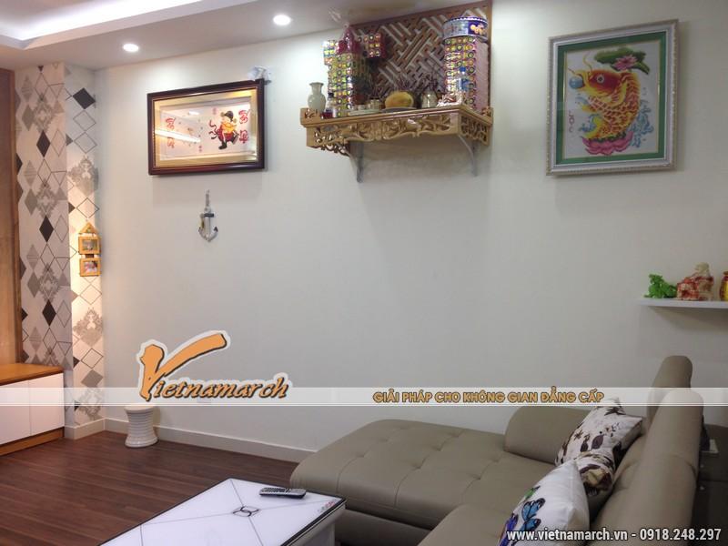 Phòng khách rộng và thoáng với đồ nội thất hiện đại - Thiết kế nội thất chung cư Đông Đô