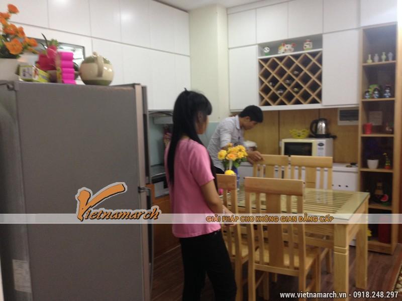 Hoàn thiện nội thất chung cư Đông Đô - nội thất phòng bếp căn hộ 1807 nhà chị Hoa