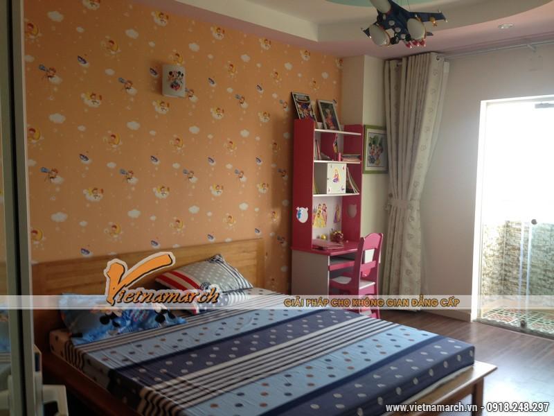 Hoàn thiện nội thất chung cư Đông Đô căn hộ 1807 nhà chị Hoa - nội thất phòng ngủ cho trẻ