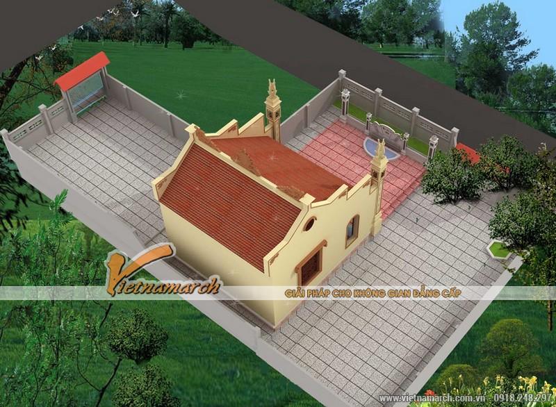 Mẫu nhà thờ họ được thiết kế cho nhà bác Cao Minh Tấn tại Hải Dương