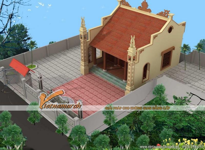 Nhà thờ họ có diện tích nhỏ được thiết kế cho nhà bác Cao Minh Tấn tại Hải Dương