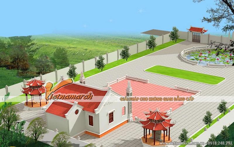 Thiết kế nhà thờ diện tích nhỏcho dòng họ Trần tại Hưng Hà - Thái Bình 01
