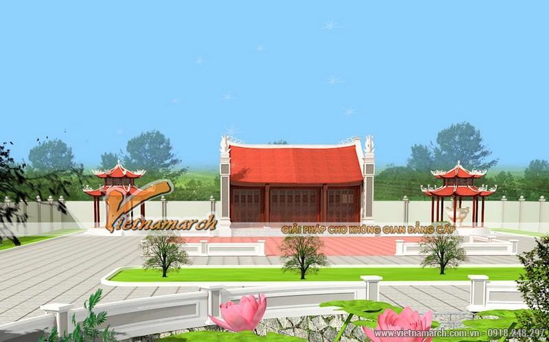 Thiết kế nhà thờ diện tích nhỏ cho dòng họ Trần tại Hưng Hà - Thái Bình 03