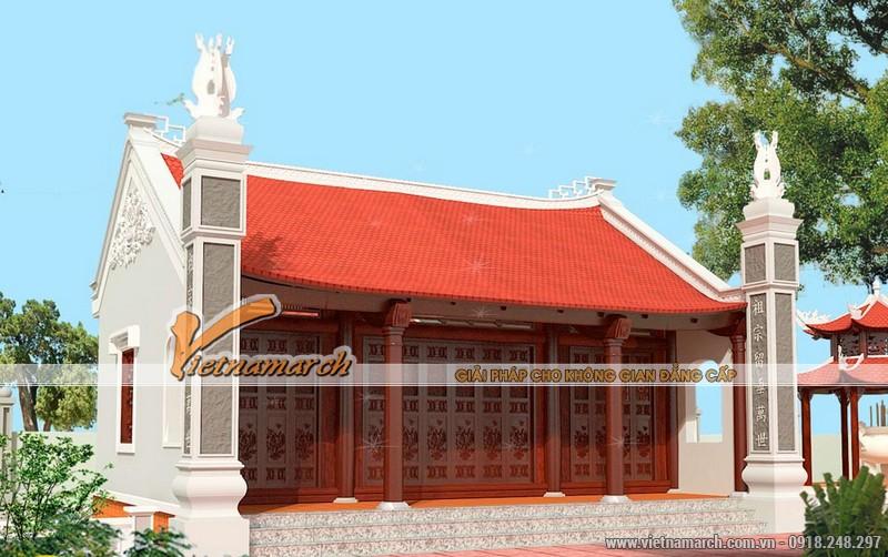 Thiết kế nhà thờ diện tích nhỏ cho dòng họ Trần tại Hưng Hà - Thái Bình 04