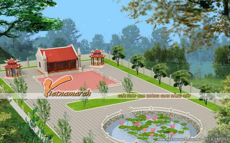 Thiết kế nhà thờ diện tích nhỏ cho dòng họ Trần tại Hưng Hà - Thái Bình 02