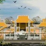 Thiết kế kiến trúc nhà thờ họ tại Phú Thọ mẫu nhà 4 mái cong