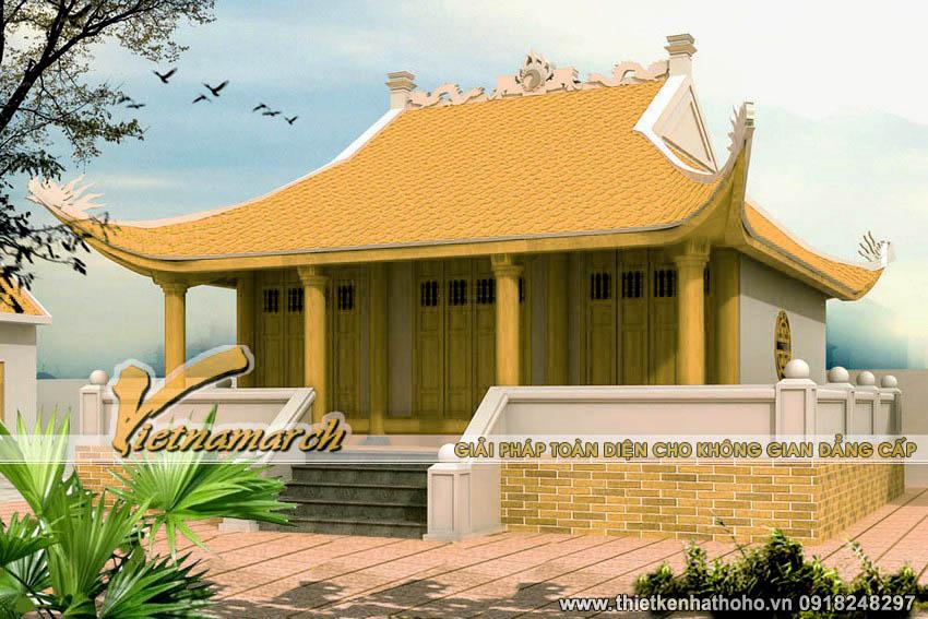 Mẫu nhà thờ 4 mái cong đầu rồng là kiến trúc phổ biến trong thiết kế nhà thờ họ