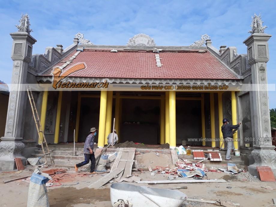 Sau khi hoàn thành tư vấn thiết kế nhà thờ họ cho ông Trần Bình Trọng, thì ngày 20-9-2015 công trình đã được khởi công xây dựng