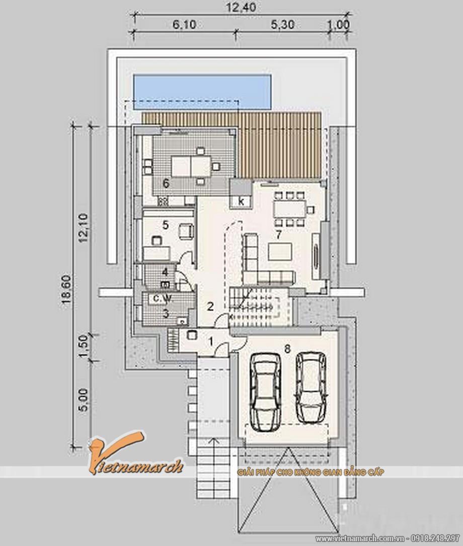 Thiết kế biệt thự đẹp 2 tầng nhà anh Hải - TP. Hạ Long 07