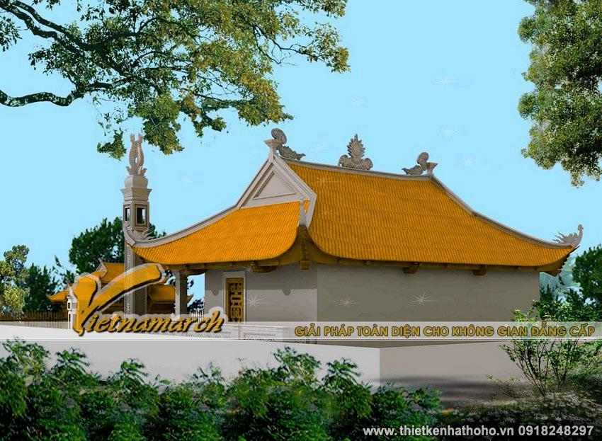 Kiến trúc của kiểu mái này là phổ biến nhất trong thiết kế nhà thờ họ