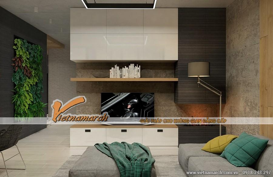 Nội thất phòng khách căn hộ nhà chị Hòa chung cư New Skyline