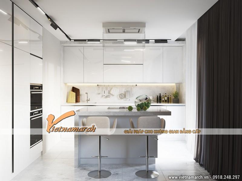 Phòng bếp với đồ nội thất cao cấp.