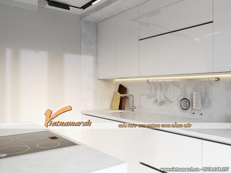 Khu vực nấu nướng với nhiều thiết bị hiện đại