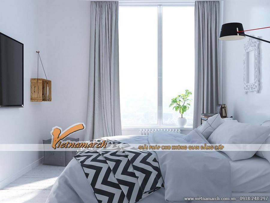 Thiết kế nội thất phòng ngủ lớn cho nhà anh Hoàng Anh - Chung cư New Skyline