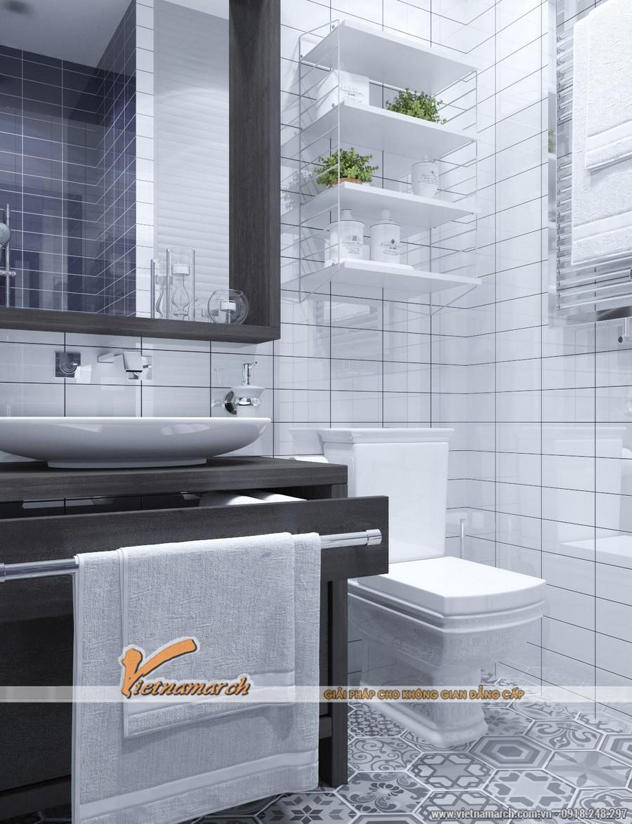 Thiết kế nội thất căn hộ 104m2 chung cư New Skyline - Thiết kế phòng tắm hiện đại