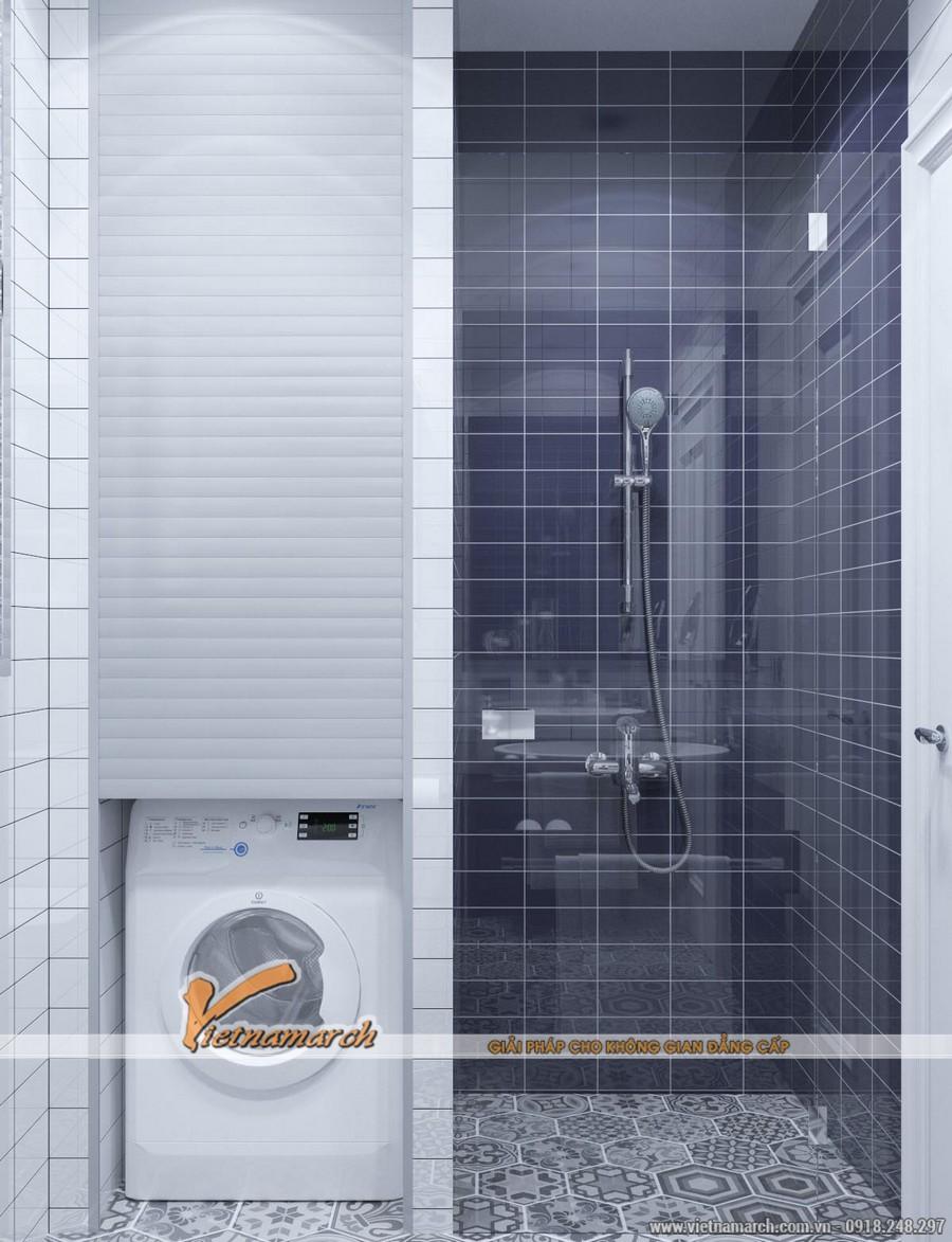 Thiết kế phòng tắm hiện đại với đầy đủ công năng - thiet ke noi that chung cu New Skyline