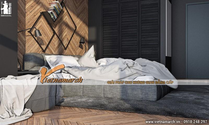 Phòng ngủ cũng được đặt ở vị trí hướng ánh sáng, có view nhìn khá đẹp ra bên ngoài.