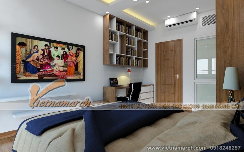 Thiết kế nội thất chung cư Đông Đô - Phòng ngủ lớn dành cho bố mẹ 01