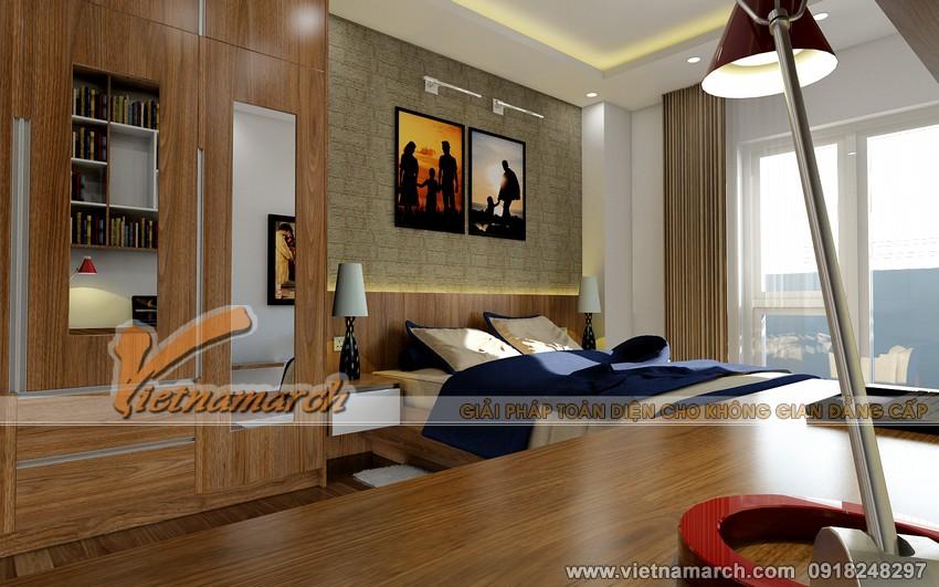 Thiết kế nội thất chung cư Đông Đô - Phòng ngủ lớn dành cho bố mẹ 02
